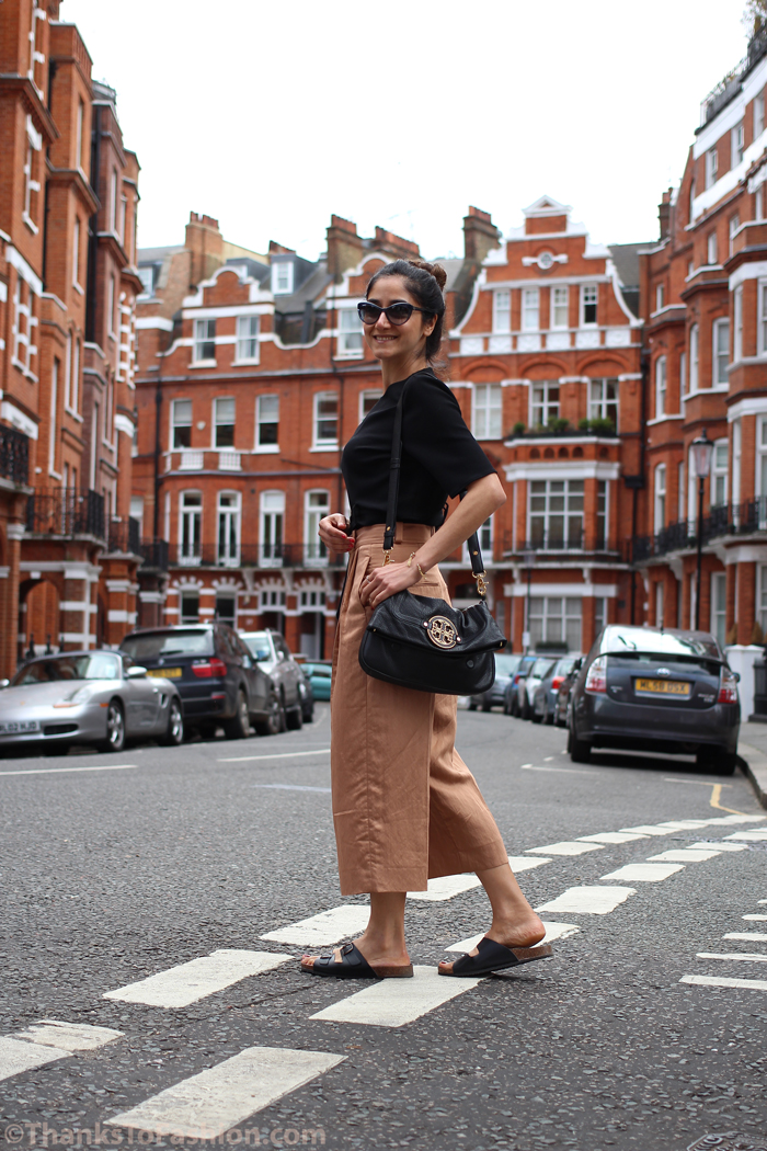Culottes trend – paired with cropped top