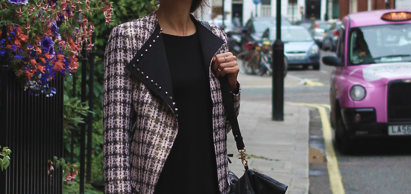 A classic tweed jacket with a modern twist