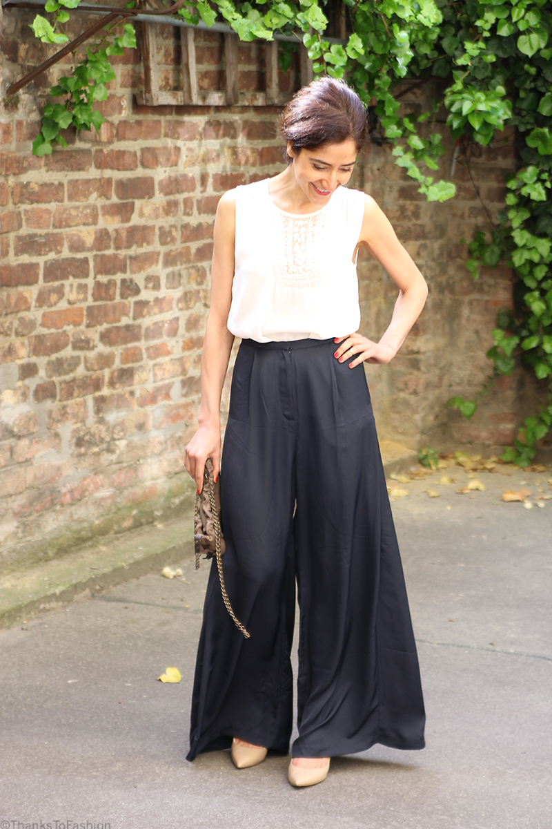 Wide leg trousers - slouchy and loose - Thanks To Fashion