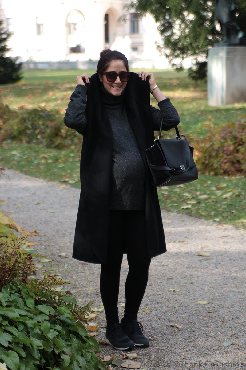 pregnancy outfit for cold weather
